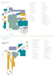 Carte de l'hôtel Ballys à Las Vegas