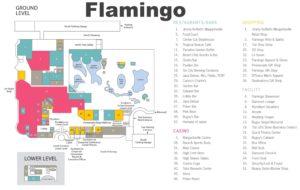 Carte du Flamingo à Las Vegas