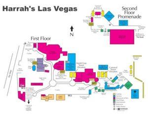 Carte du Harrahs à Las Vegas