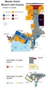 Carte du Monte Carlo hôtel à Las Vegas