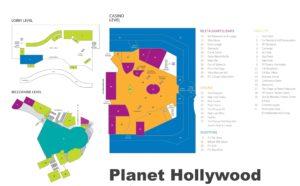Carte du Planet Hollywood à Las Vegas