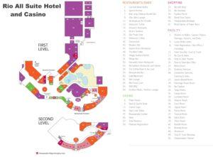 Carte du rio hôtel à Las Vegas