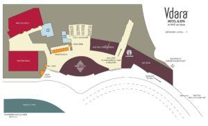Carte du Vdara à Las Vegas