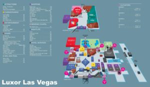 Carte du Luxor à Las Vegas