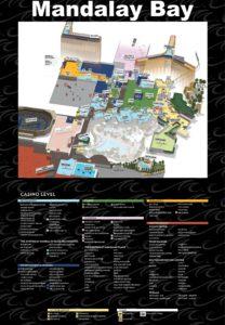 Carte du Mandalay Bay à Las vegas