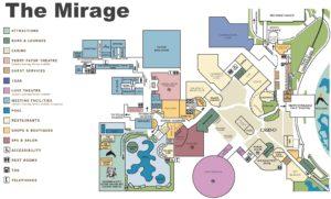 Carte du Mirage à Las Vegas