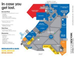 Carte du New York New York à Las Vegas