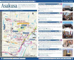 Carte du quartier d'Asakusa à Tokyo