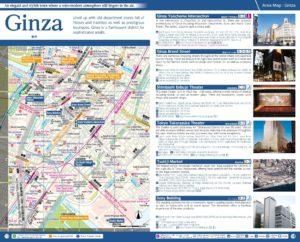 Carte du quartier Ginza à Tokyo