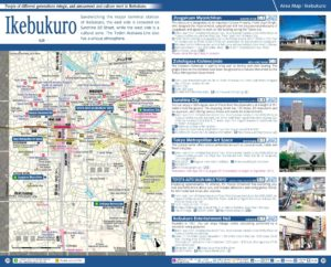 Carte du quartier Ikebukuro à Tokyo