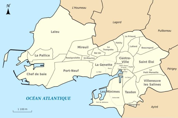 Carte des quartiers de La Rochelle