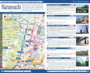 Carte du quartier Marunouchi à Tokyo
