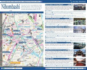 Carte du quartier Nihombashi à Tokyo