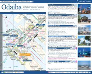 Carte du quartier Odaiba à Tokyo