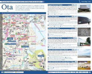 Carte du quartier Ota à Tokyo