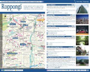 Carte du quartier Roppongi à Tokyo