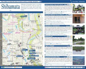 Carte du quartier Shibamata à Tokyo