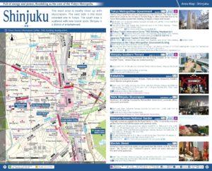 Carte du quartier Shinjuku à Tokyo