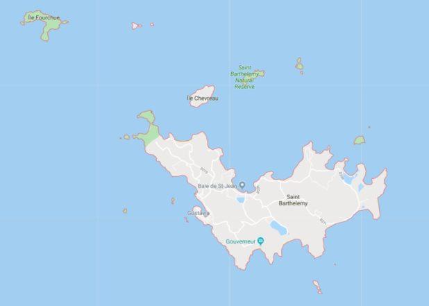 Carte de Saint-Barthélemy