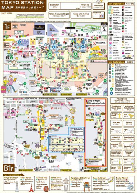 Carte des stations de Tokyo
