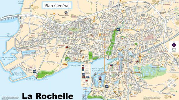 Carte touristique de La Rochelle