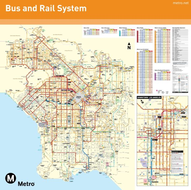 Carte des transports de Los Angeles