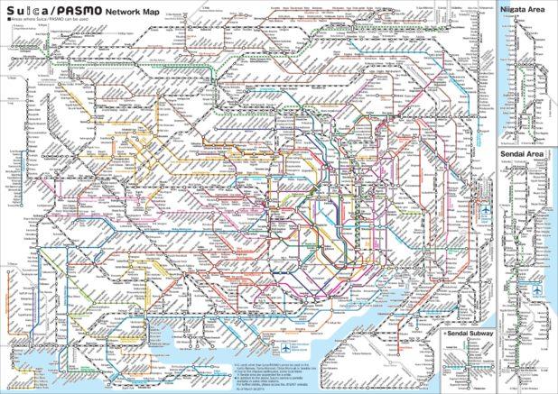 Carte des transports à Tokyo