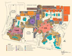Carte du Wynn Encore hôtel à Las Vegas