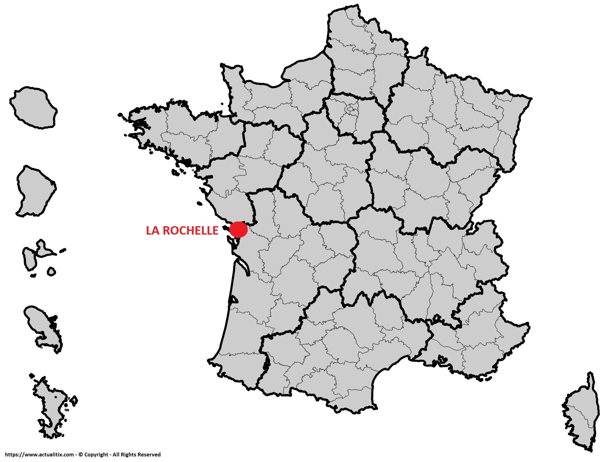 carte de france la rochelle Carte de La Rochelle   Plusieurs cartes de la ville en Charente