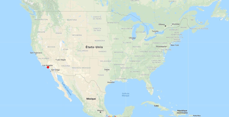 los angeles carte du monde Carte de Los Angeles   Plusieurs cartes de la villes aux Etats Unis