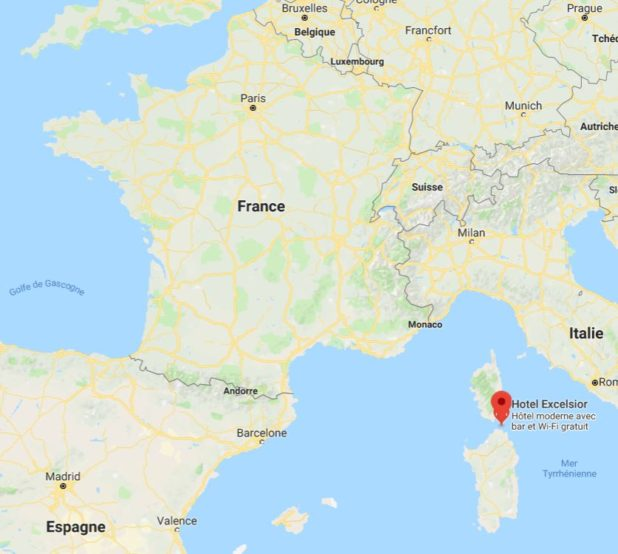 Archipel de la Maddalena sur une carte