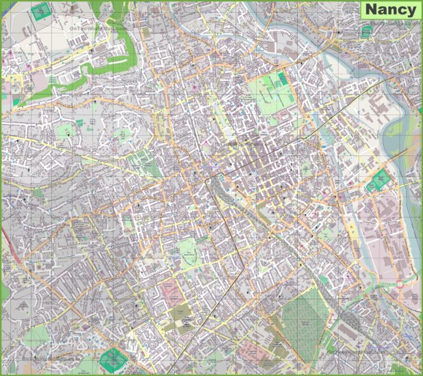 Carte de Nancy