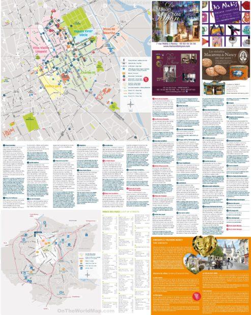Carte touristique de Nancy