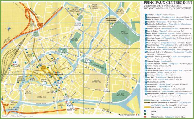 Carte touristique de Strasbourg