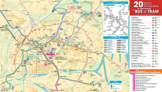 Carte des transports de Strasbourg