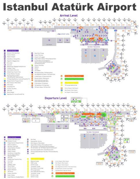 Carte de l'aéroport d'Istanbul