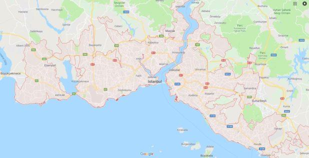 Carte d'Istanbul