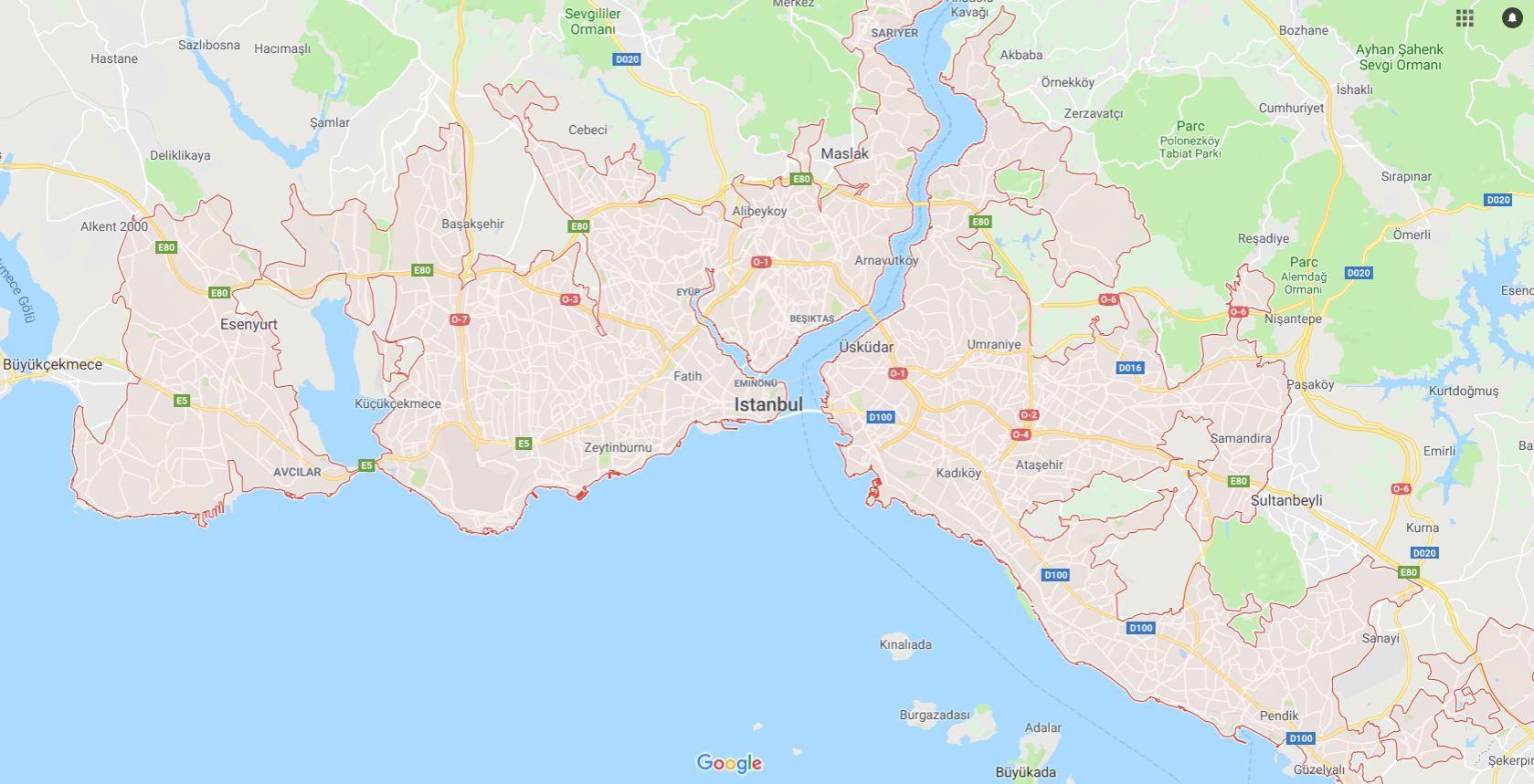 Carte Distanbul Plusieurs Cartes De Cette Ville Magnifique En Turquie