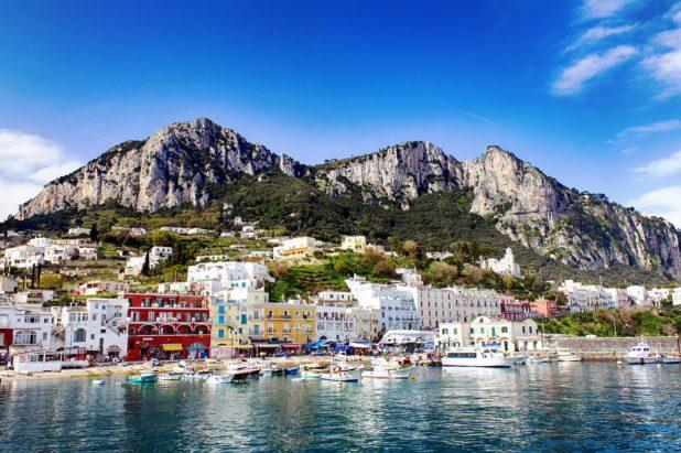 Capri après une promenade en bateau