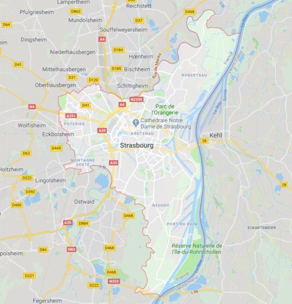 Carte de Strasbourg