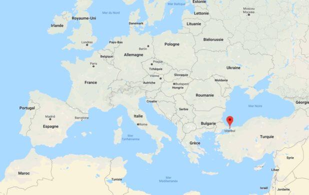 Istanbul carte de l'Europe