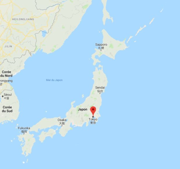 Tokyo carte du Japon