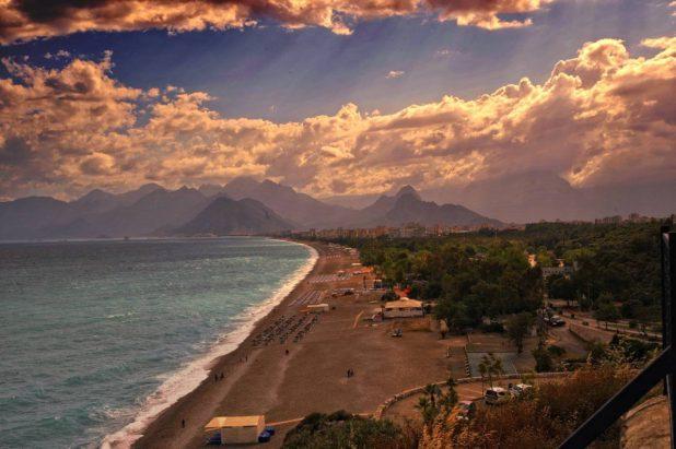 Plage de rêve sur la côte turquoise