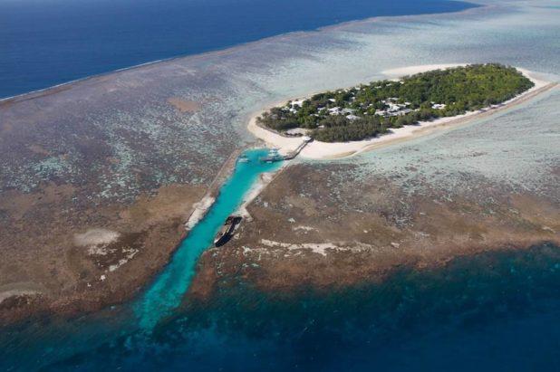 Les îles de la grande barrière de corail