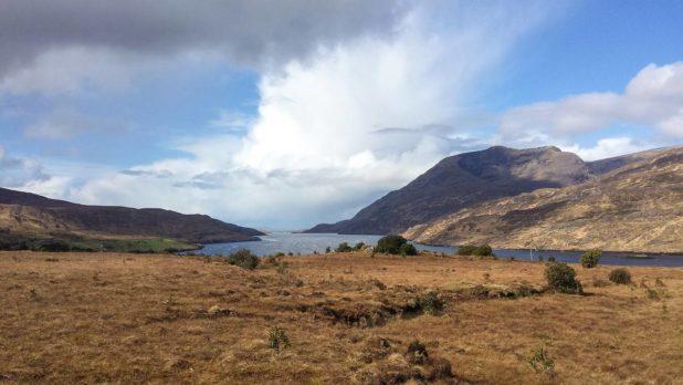 Paysage sauvage au Connemara en Irlande
