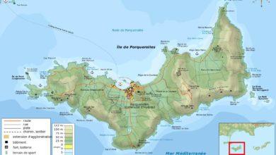 Carte de l'île de Porquerolles