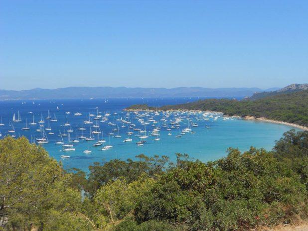 Paysage sur l'île de Porquerolles