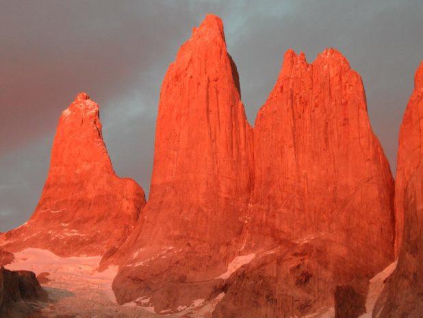 Granit sommet dans le parc naturel Torres del Paine