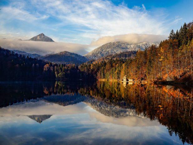 La région du Tyrol entre l'Italie et l'Autriche