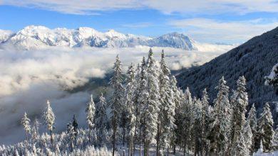 Région du Tyrol et la montagne